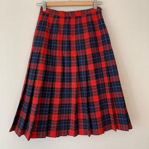 Vintage Pendleton pleated tartan plaid skirt